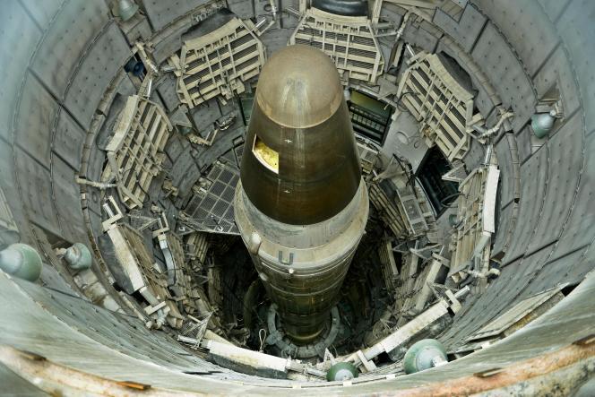 Un missile nucléaire démantelé exposé au Titan Missile Museum de Green Valley (Arizona), le 12 mai 2015.