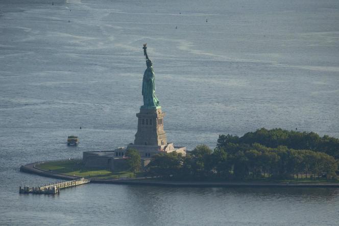 Vue aérienne de New York, le 5 août 2021.