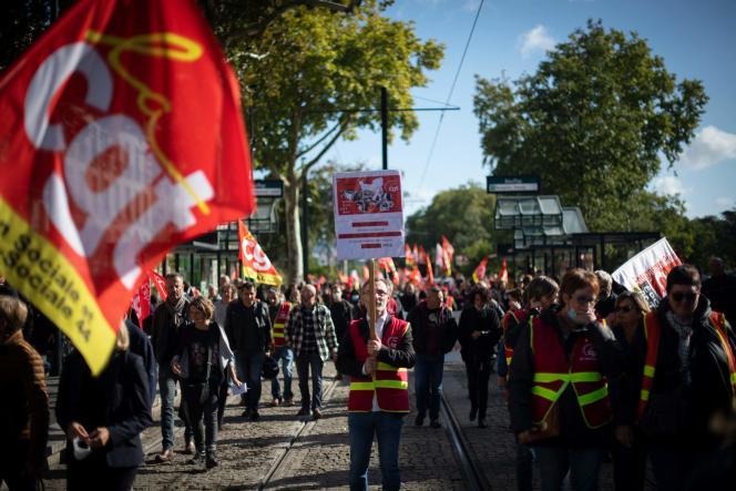Lors de la manifestation à Nantes, le 5octobre2021.