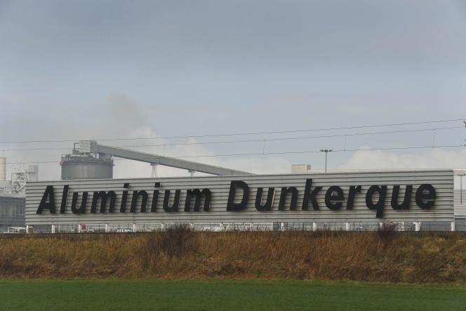 L'usine Aluminium Dunkerque, le 11 janvier 2018.