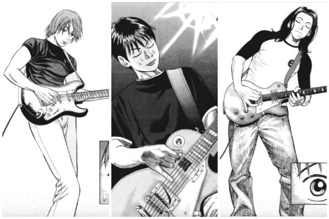 Extraits de planches du manga« Beck».