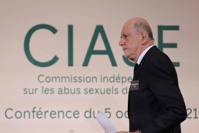 Jean-Marc Sauvé,le président de la Commission indépendante sur les abus sexuels dans l'Eglise catholique, à Paris, le 5 octobre 2021.