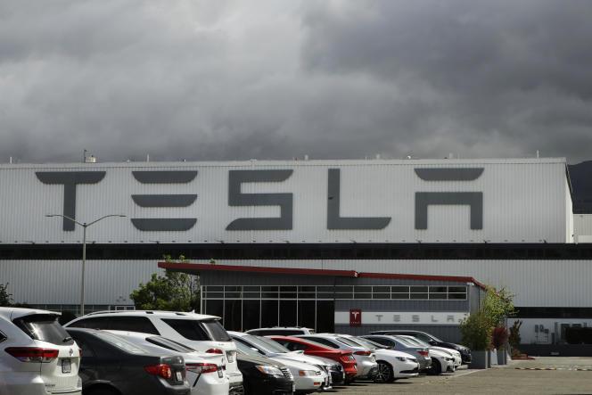 L'usine Tesla de Fremont, en Californie, le 12 mai 2020.