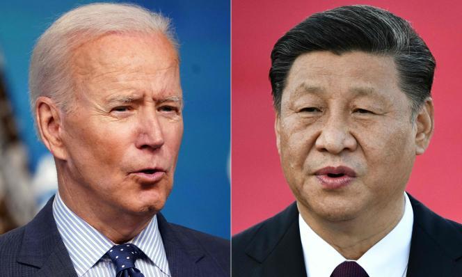 Le président américain Joe Biden (à gauche) à Washington, DC, le 2 juin 2021, et le président chinois Xi Jinping à Macao, le 18 décembre 2019.
