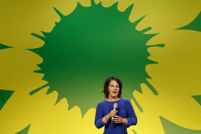 Co-voorzitter van de Duitse Groene Partij, Annalena Barbock.