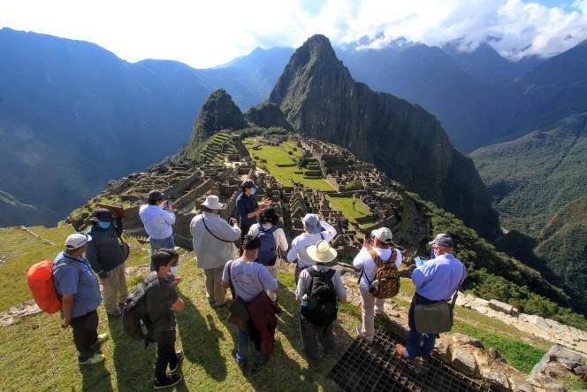 Au Machu Picchu (Pérou), le 12 juin 2020.