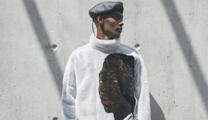 Image tirée de la collection Dior Hommes 2020 pour laquelle le directeur artistique Kim Jones a collaboré avec l'artiste peintre ghanéenAmoako Boafo en utilisant des reproductions de ses œuvres sur les créations de la maison de haute couture parisienne.