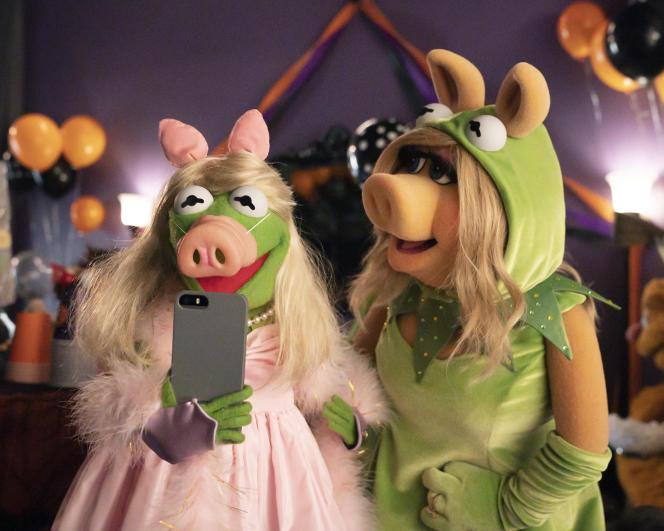 Kermit la grnouille et Miss Piggy.