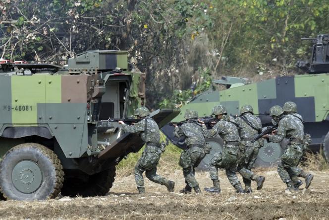 Des militaires taïwanais à l'entraînement, en 2017.