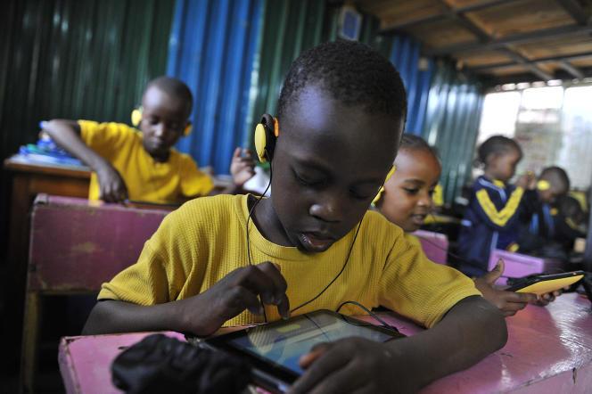 Dans une école de Nairobi, au Kenya, en 2015.