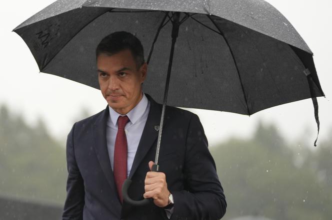 Le premier ministre espagnol, Pedro Sanchez, à son arrivée au sommet européen en Slovénie, le 6 octobre 2021.