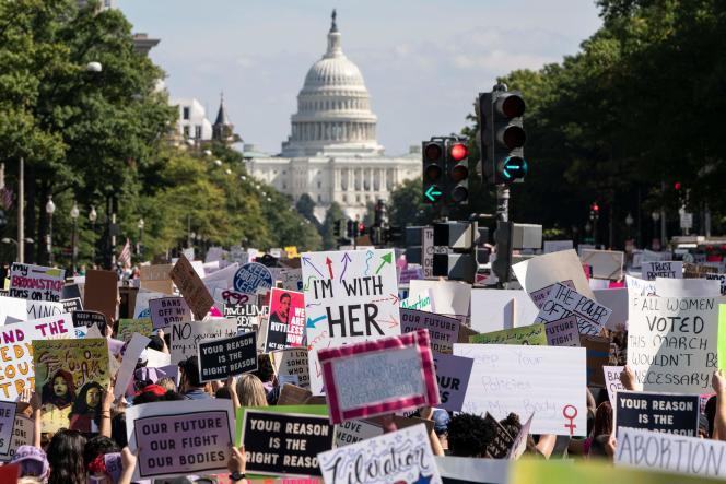 Manifestazioni per il diritto all'aborto durante