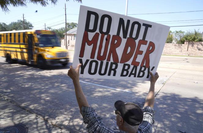 Attivista contro l'aborto volontario, Dallas, Texas, 7 ottobre 2021.