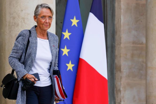 La ministre du travail, Elisabeth Borne, à l'Elysée, le 7octobre2021.