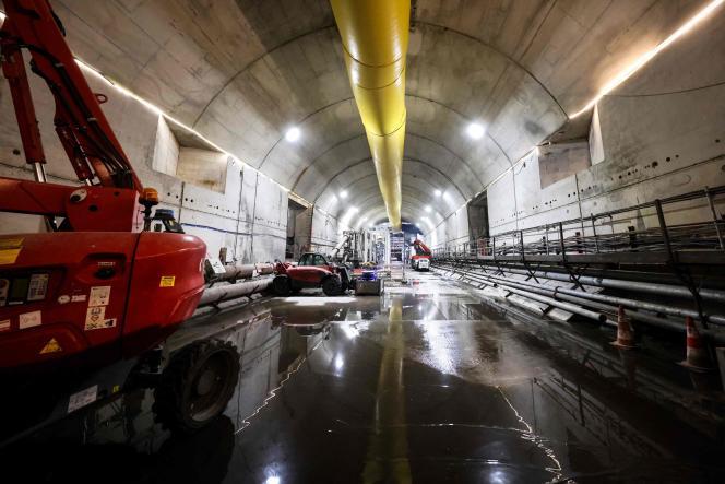 Le chantier du RER E près de la Porte Maillot, le 6septembre 2021.