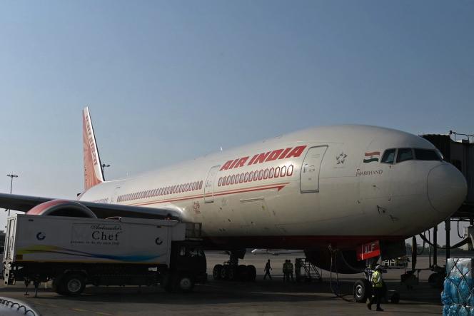 Un avion d'Air India, à l'aéroport internationalIndira-Gandhi, à New Delhi, le 8 octobre.