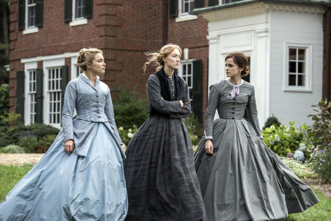 Les actrices Florence Pugh, Saoirse Ronan et Emma Watson dans « Les Filles du docteur March» (2019), deGreta Gerwig.