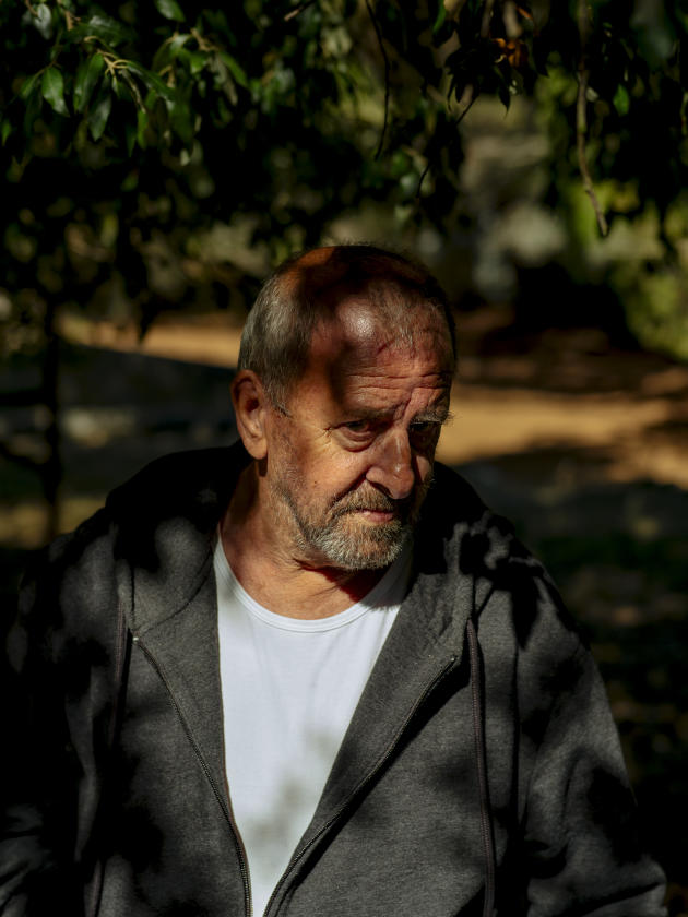 Michel Trouvain, sur le site de la section d'épreuve de Corte (Haute-Corse), le 24 septembre 2021.