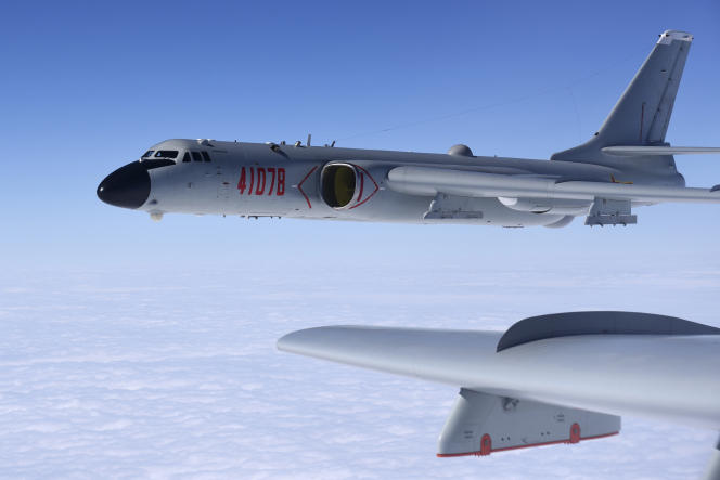 Chinese H-6K bombers, in a photo provided by China's Xinhua News Agency, in 2017.