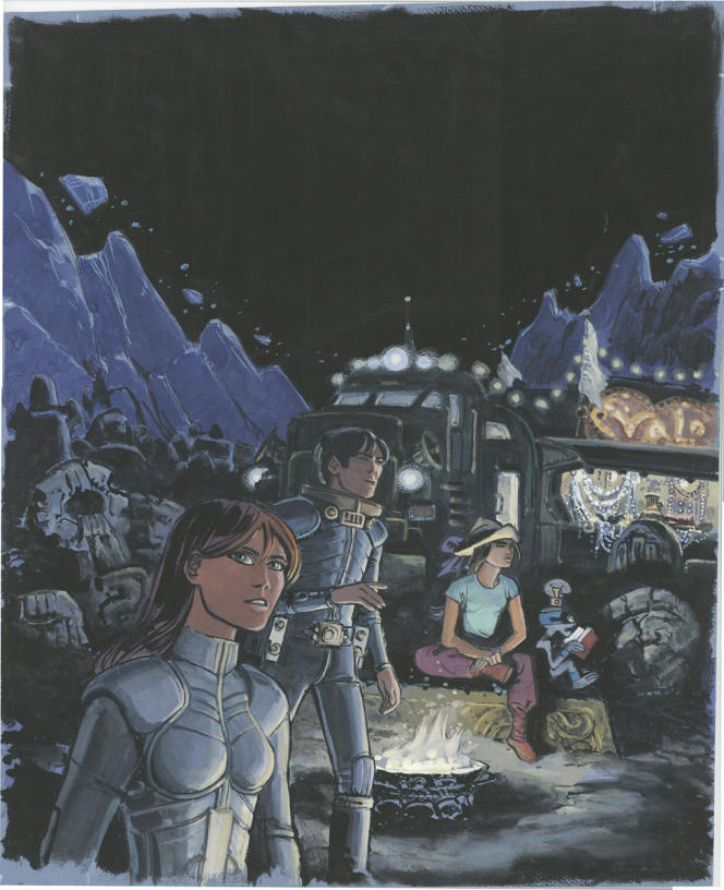 «Valérian et Laureline»,couverture intégrale n° 7, de Jean-Claude Mézières.