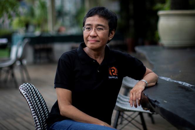 Maria Ressa,colauréate du prix Nobel de la paix 2021, à Taguig (Philippines), le 9 octobre 2021.