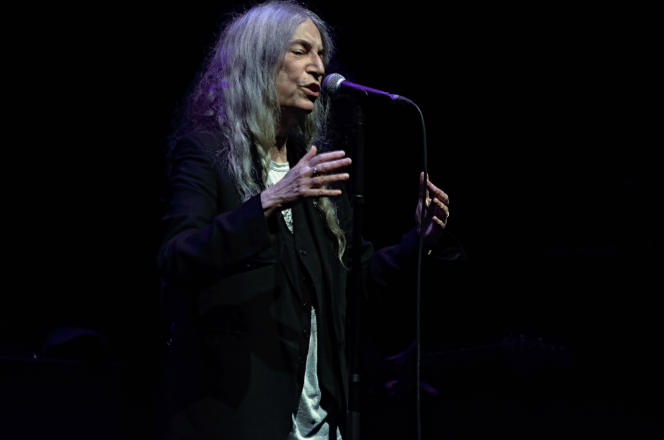 Patti Smith au Grand Rex, à Paris, le 8 octobre 2021.
