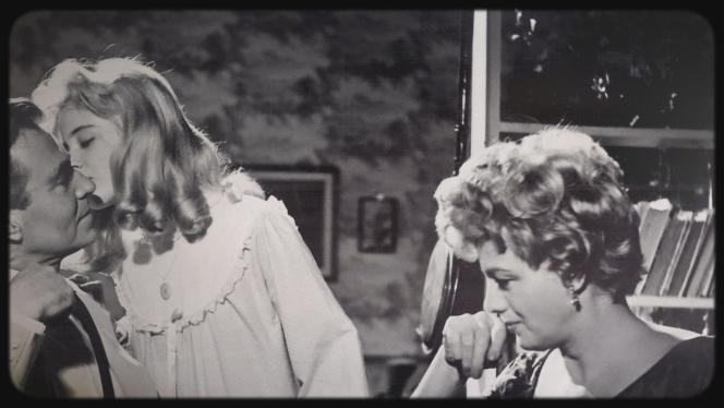 Humbert (James Mason), Lolita (Sue Lyon) et Charlotte (Shelley Winters), dans «Lolita» (1962), de Stanley Kubrick.