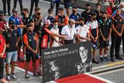 Minute de silence en hommage à Dean Berta Viñales, lors d'une épreuve du championnat du mondede MotoGP, à Austin (Texas).