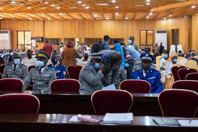 A Ouagadougou, le 11 octobre 2021, lors de la première journée de procès des quatorze personnes poursuivies pour l'assassinat de Thomas Sankara le 15 octobre 1987.