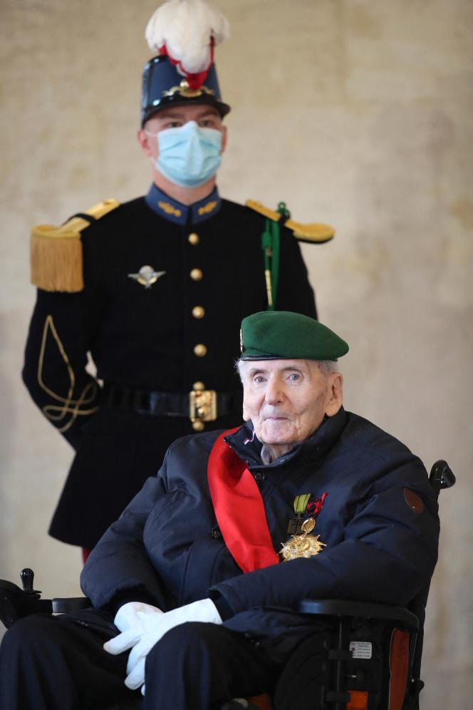 Hubert Germain, à l'Hôtel des Invalides, à Paris, le 26 novembre 2020.
