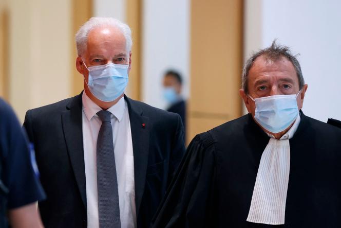 Alain Griset, at the Paris Criminal Court, October 12, 2021.