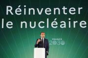 Le président de la République, Emmanuel Macron, lors de la présentation de France 2030 à l'Elysée, à Paris, le 12 octobre 2021.