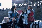 L'issue de l'affrontement entre Jean de Carrouges (Matt Damon, à droite) et Jacques Le Gris (Adam Driver) décidera du sort de la victime.