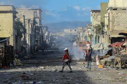 Une rue désertée de Port-au-Prince, le 20 décembre 2019.