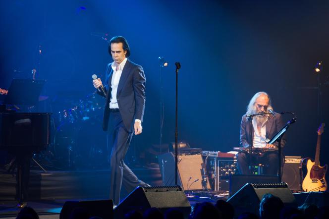 Nick Cave et Warren Ellis, en concert le 12 octobre, Salle Pleyel, à Paris.