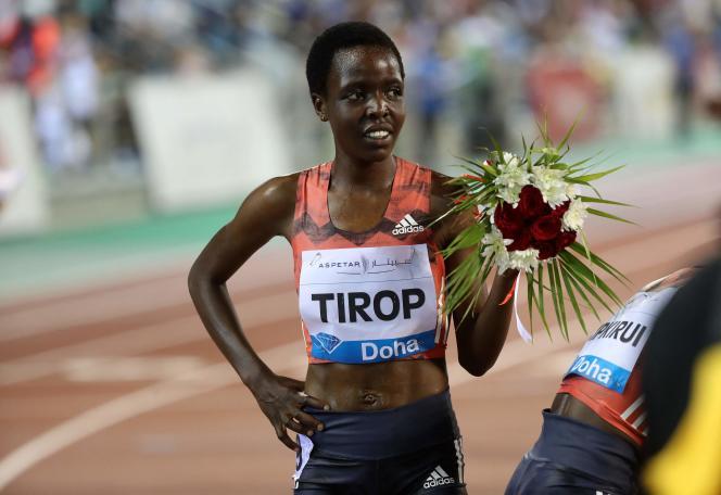 Agnes Tirop, le 4mai 2018, à Doha.