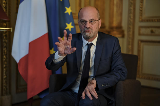 Jean-Michel Blanquer, in his office at the Ministry of National Education in Paris, October 13, 2021.