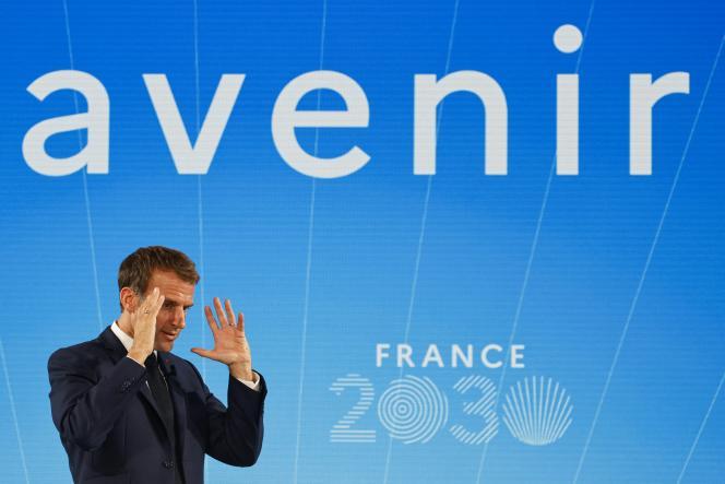 Emmanuel Macron, à Paris, le 12 octobre 2021.