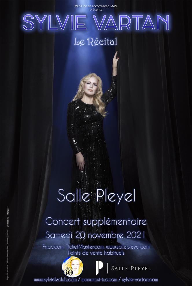 Affiche du spectacle «Le Récital», de Sylvie Vartan.