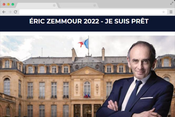 Capture d'écran du site jagispourzemmour.fr.