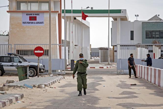 Le poste frontière deGuerguerat,situé à l'extrême sud-ouest du Sahara occidental, en novembre 2020.