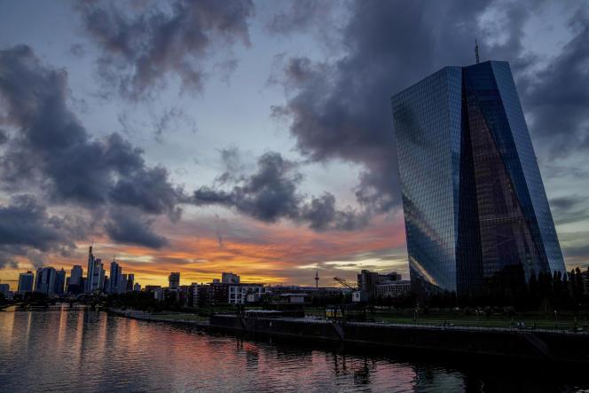 Le siège de la Banque centrale européenne (BCE), à Francfort-sur-le-Main (Allemagne), le 4 juillet 2021.