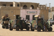 Les forces françaises de l'opération « Barkhane», à Tombouctou (Mali), le 29 septembre 2021.