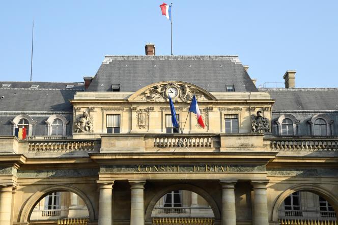 L'entrée du Conseil d'Etat, à Paris, le 18 octobre 2018.