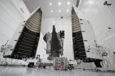 La sonde Lucy, à Titusville (Floride), le 29 septembre 2021. Le lancement de l'engin spatial est prévu le 16 octobre 2021.