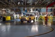 Ligne de production de la Yaris Cross, petit SUV de la marque Toyota, à Onnaing près de Valenciennes, le 30 avril.