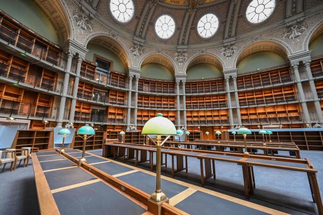 Bibliothèque nationale de France, site Richelieu, à Paris, le 28 septembre 2021.