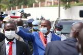 Le président centrafricain, Faustin-Archange Touadéra, à Bangui, le 30 mars 2021.