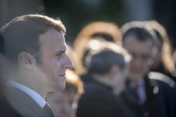 Emmanuel Macron, à Colombes (Hauts-de-Seine), le 17 octobre 2021.