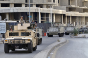 Des soldats de l'armée libanaise dans les rue de Beyrouth, le 15 octobre 2021.